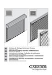 Fitting instructions Garador GaraRoll manual garage door