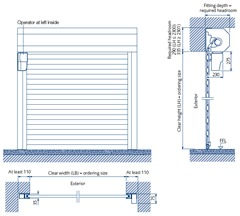 GaraRoll roller door specification - behind opening