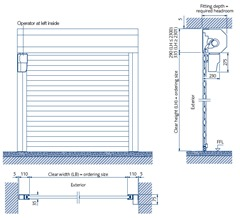 GaraRoll roller door specification - between opening