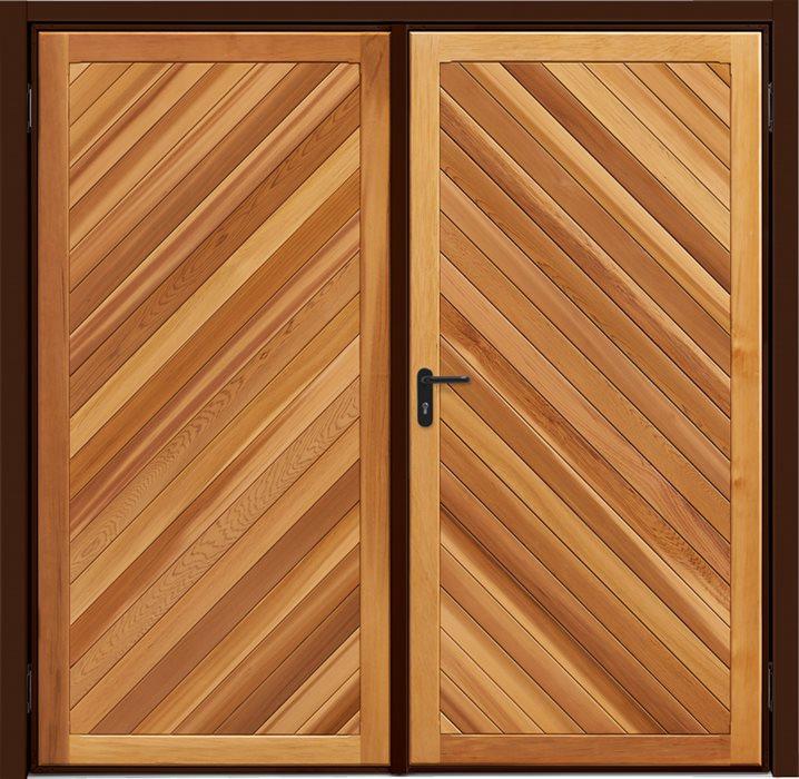 Garador Timber Panel Chevron Cedar